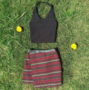 Mexican Print Mini-Skirt